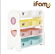 iFam (Korea) Toy Storage (4 Shelves)      [Member price : HK$710]