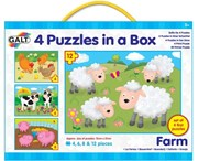 Galt 4 Puzzles In a Box- Farm