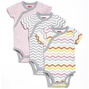 Skip Hop Side-Snap Short Sleeve Bodysuit Set - Girl     [Member price : HK$212]