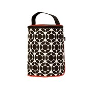 J.L. Childress Tall Two-Cool 2-Bottle Cooler - Black/ Red Floral          [Member price : HK$95]