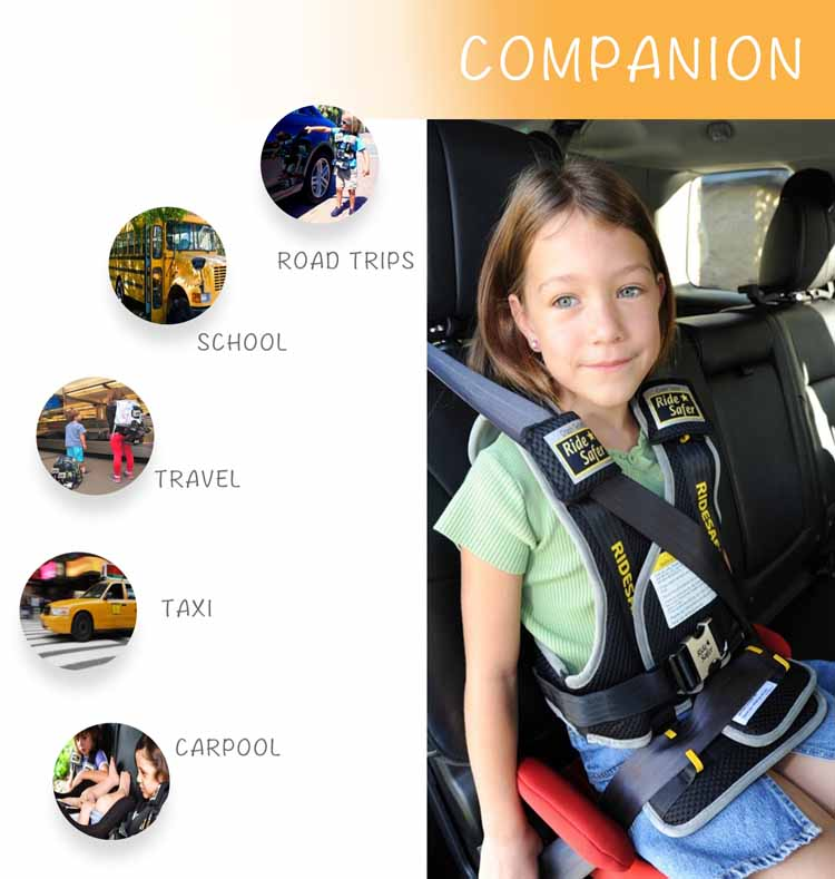 RideSafer3 USA Travel Vest For Kids Wearable Car Seat